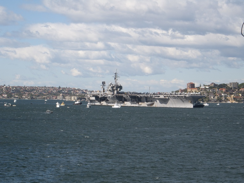 USS Kittyhawk  -Sydney Harbour July 2007